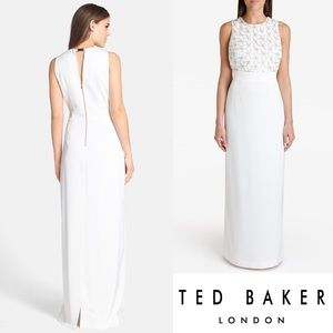 NWT Ted Baker Aaina Embellished Maxi Wedding Gown